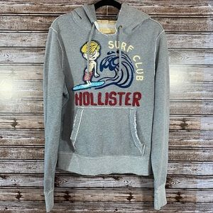 Hollister- Surf Club Distressed Hoodie Sweatshirt